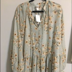 NWT oversized floral tunic dress